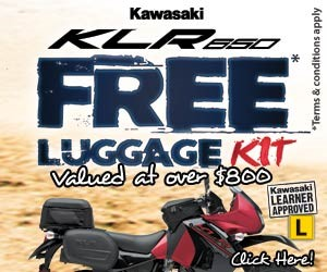 All new KLR650 with free luggage kit