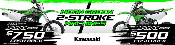 Kawasaki Mean Green 2 Stroke Deal